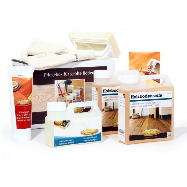 Bodenpflegebox mit Pflegepaste natur