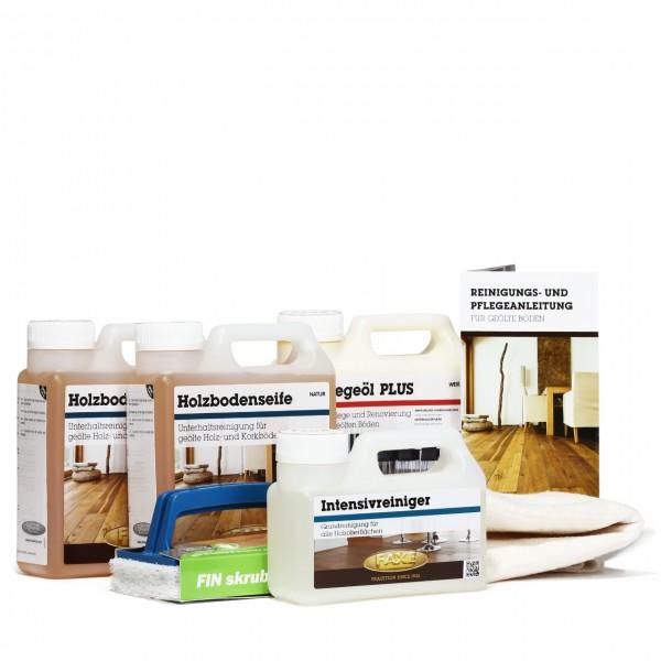 Bodenpflegebox mit Pflegeöl weiß