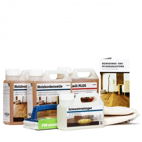 Bodenpflegebox mit Pflegeöl natur